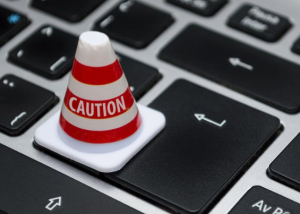 2020-01-12 20_23_32-White Caution Cone on Keyboard · Free Stock Photo
