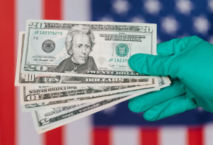 2020-07-05 19_32_11-Banknotes of American dollars in hand against flag · Free Stock Photo
